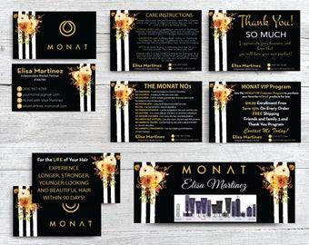 Monat Marketing kit, Custom Monat Starter Kit, Floral Monat Business Card, Monat starter Pack Global, Monat Flyer, Printable Card MN86
