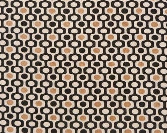 Brown white black geometric fabric