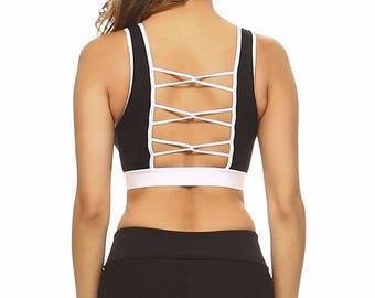 Loop Back Sports Bra - Black