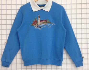 RARE !!! Southern Lady Sweatshirts Big Logo Embroidery Nice Design