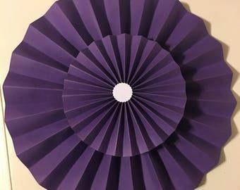Purple Paper Pinwheels