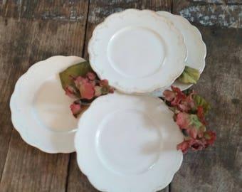 Vintage Bread Plates (4)~Beautiful!
