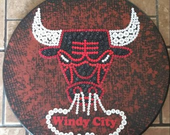 Bulls Button Art