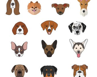 Dog Face Svg/Eps/Png/Jpg/Cliparts,Printable, Silhouette and Cricut File !!!
