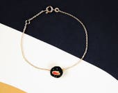 Bracelet brodé chaîne Météorite