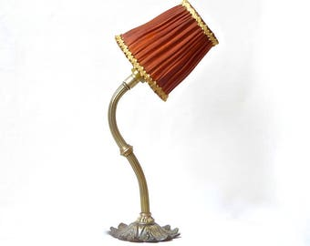Flower - Bronze lamp of atmosphere to install - and fabric - unique