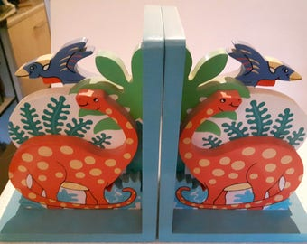 Kids Painted Large Bookends