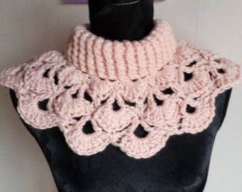 shoulder cowl neck warmer crochet