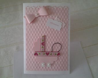 Girl birth congratulations card