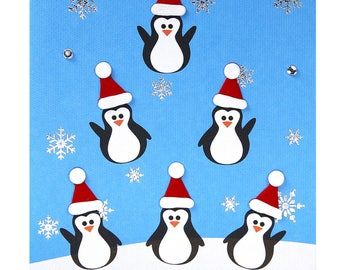 Christmas card / new year penguins