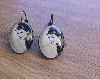 "Earrings ""audrey hepburn"""