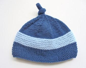 handmade knitted little boy or girl hat