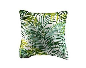 Cushion cover 40 x 40 palmsprings, Palm trees, green, Thévenon