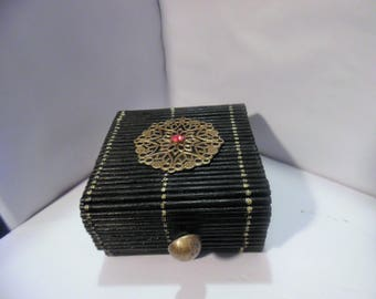 black and gold oriental style box