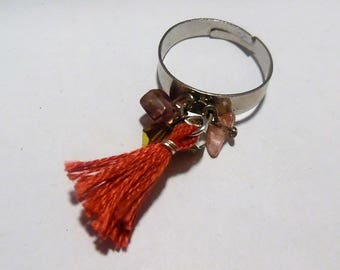 Tassel and Pearl ring