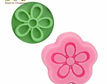 polymer clay flower silicone mold