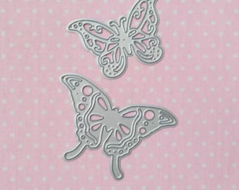 die cut 2 butterflies. Die cut