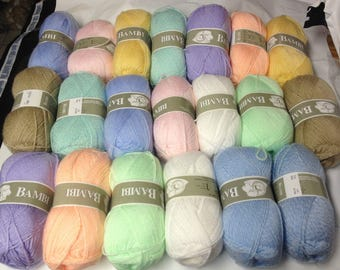 Knitting / 20 balls of yarn / baby/baby / made in France