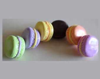 Sweets, set of 6 macaroons in bright colors