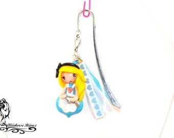 Bookmark Alice polymer clay