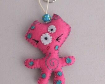 GalAxY MyaOo felt Keychain - pink.