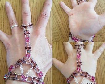 slave bracelet elastic rose swarovski crystal shades