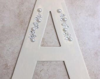 Alphabet Canvas Pearls and Stones