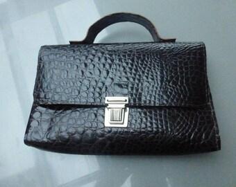 Handle bag Brown genuine leather