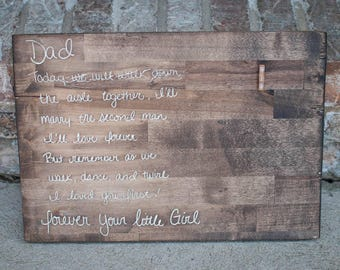 """Bride gift to Dad 11.75""""x17"""""""