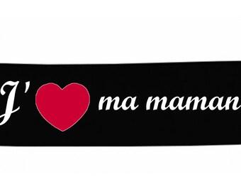 Headbands black message baby I love my mommy