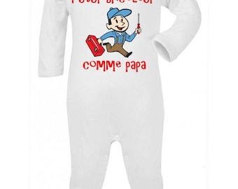 Pajamas baby humor handyman dad