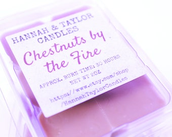Chestnuts by the Fire Handmade Soy Wax Melt | Roasted Chestnuts Scented Wax Tart | Winter Christmas Scented Wax Shot | Christmas Gift Idea