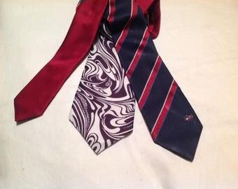 Set of three ties for creating man