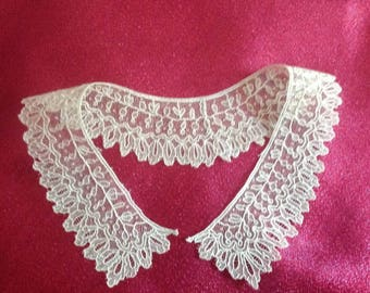 Alencon lace, for child's old collar