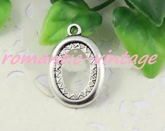 5 fring silver antique 18 * 13mm cabochons