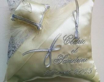 Ivory silver pillow Princess Cinderella