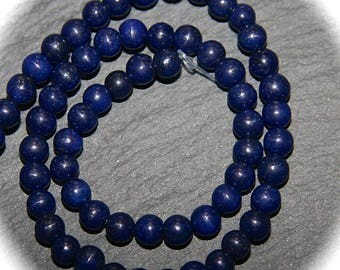 x 10-lapis lazuli 4 mm semiprecious round beads