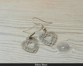 New small prints heart earrings