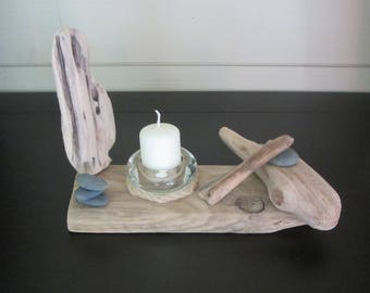 Wood candle holder Driftwood N5