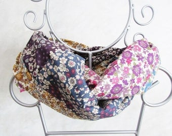 Patchwork liberty fabric ruffles summer Snood