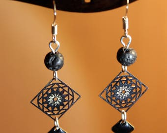 925 Sterling Silver earrings - prints and note color