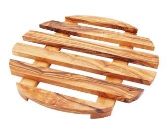 Sous plat en bois d'olivier