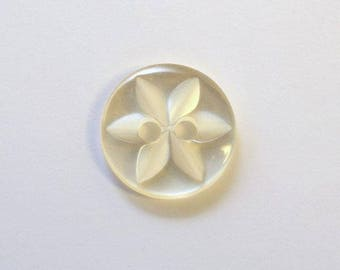 Button star 11 mm x 20 cream 2 holes - 001605
