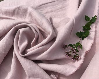Dusty Rose pink linen fabric , stonewashed linen, 100% pure linen from Lithuania, prewashed and softened linen farbric , all-purpose