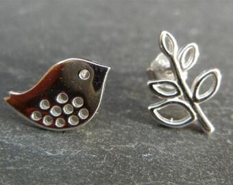 Earrings in Sterling Silver 925 bird Motif