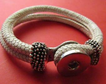 snap bracelet 18mm / 20mm off white