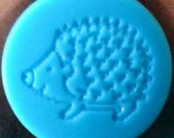 "10 snaps engraved KAM ""HEDGEHOG"" ocean blue matte"