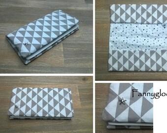 "Checkbook holder / fabric protects-checkbook ""Scandi' Follies"""