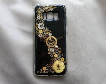 Case Samsung S8 TPU Silicone semi hard resin and watch parts Steampunk