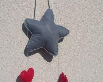 """my magic Star"" felt mobile"